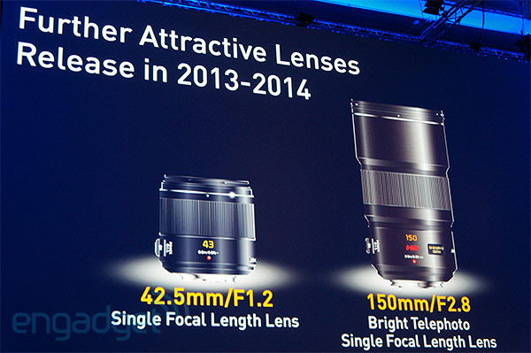 Panasonic teases 425mm f12 and 150mm f28 MFT lenses, slated for release by 2014