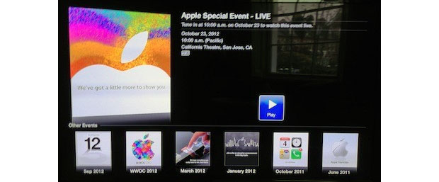 New Apple TV Events channel will stream the special event later today