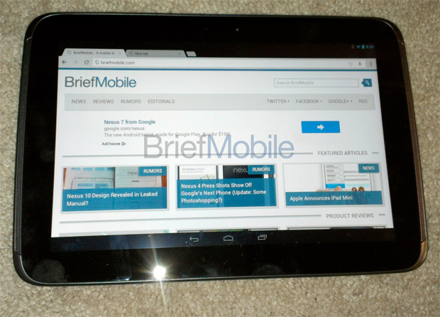 Google Nexus 10 leaks Android 42, Exynos 5250 17GHz, 2,560 x 1,600 resolution