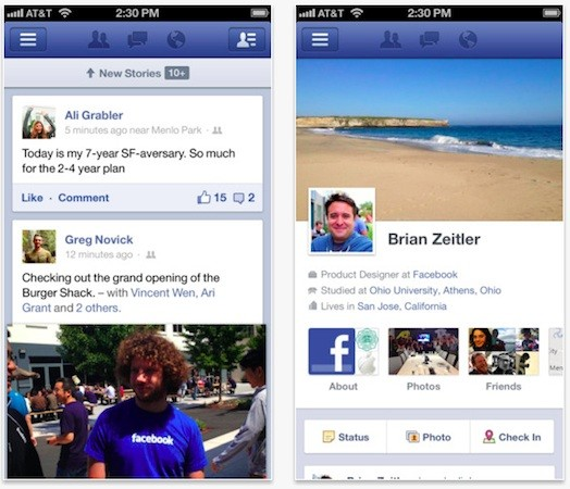 Facebook updates iOS app with features from standalone Messenger and Camera apps