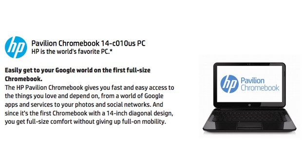 HP crafting 14inch Chromebook Pavilion, to be unveiled on February 17