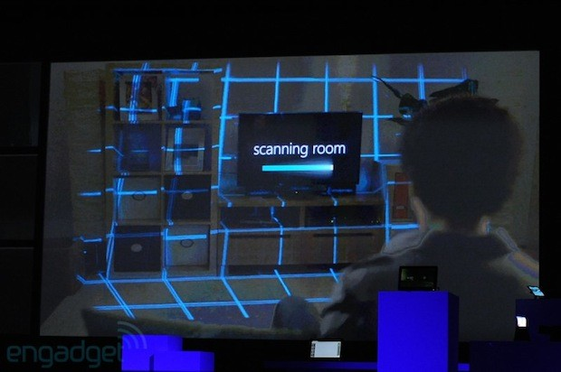 Microsoft and Samsung demos 'shapeshifting' display, fills room with images