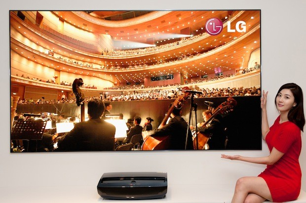 LG Cinema Beam shortthrow laser projector and 100inch screen released in Korea