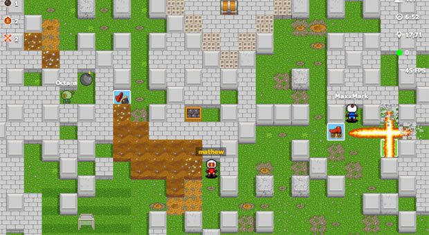 Bomberman gets unofficial webbased version Bombermine, crams in up to 100 online players