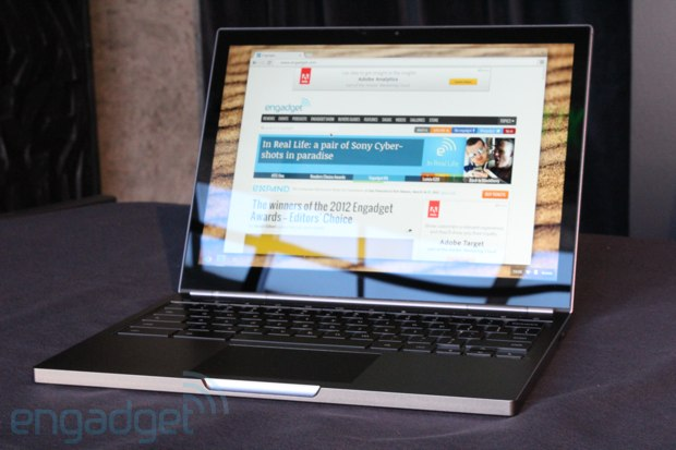 Google announces Chromebook Pixel: 1.8GHz Core i5, 2560 x 1700 touchscreen, with LTE option. Pre-order now, ships in April