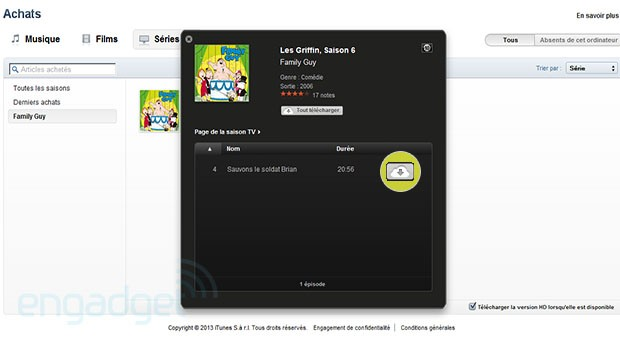 iTunes in the Cloud looks to be hitting parts of Europe with TV series, films