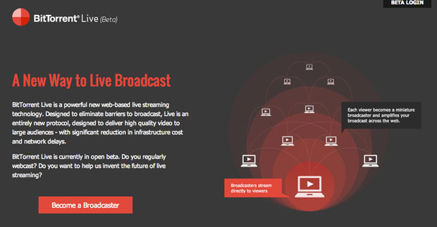 BitTorrent Live now in open beta, brings live webcasting to the internet masses