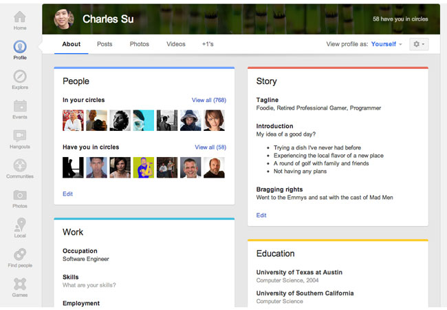 Google updates profile pages with larger photos, easier editing and dedicated tab for Local review