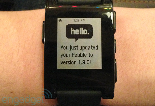 Pebble updates smartwatch firmware to version 19, improved interface and Snake game in tow
