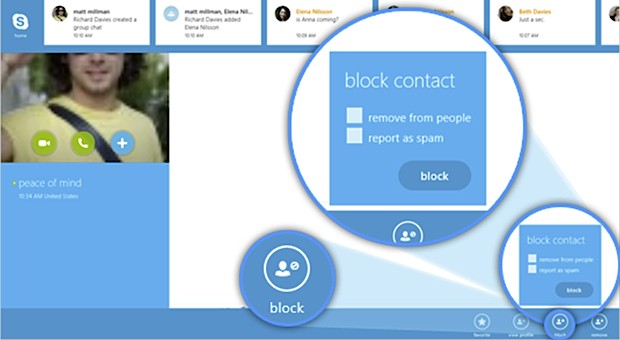 Skype for Windows 8 gains contact blocking and performances improvements