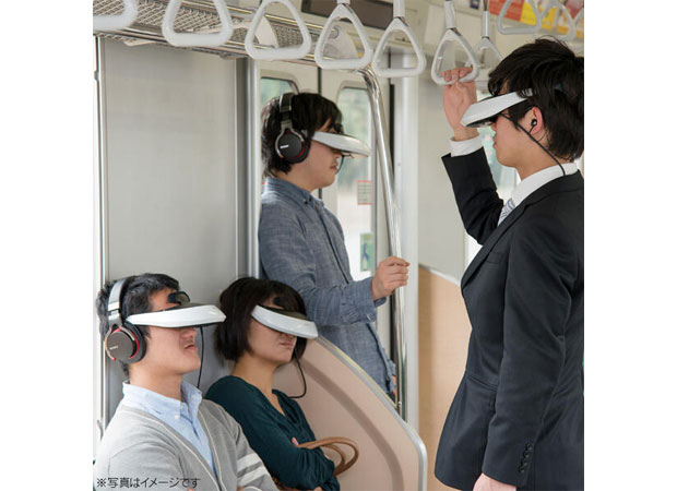 Caption contest Sony imagines the future of commuting, involves its giant 3D visors