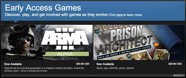 Steam Early Access makes public game tests a nearautomatic affair
