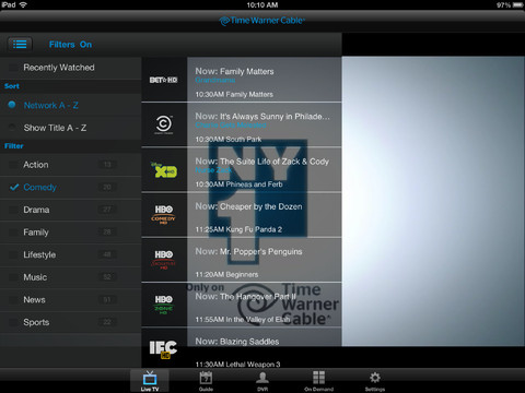 TWC TV iOS app updated for TV streaming away from home