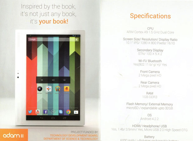 Notion Ink Adam II teased at India's National Technology Awards, reportedly priced at $218