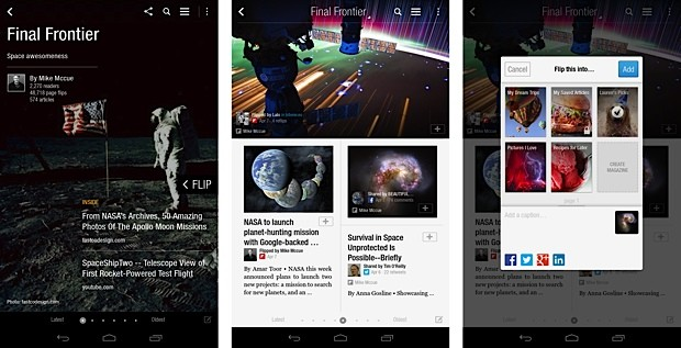 Flipboard brings magazine curation to Android, gains web tools