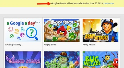 Google+ Games to go dark after June 30th