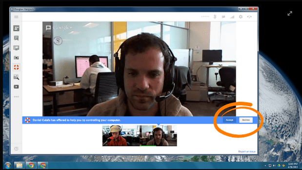 DNP Google Hangouts updated with remote desktop control, turns you into tech support in the process