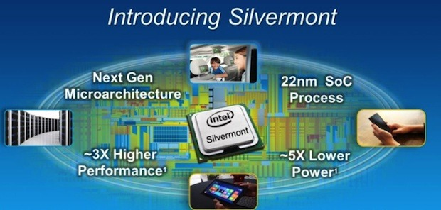 Intel Silvermont nextgen mobile CPU's three times as fast and more energy efficient
