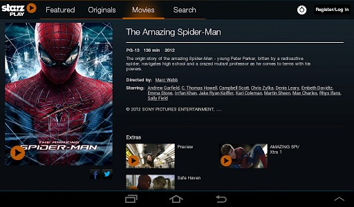 Starz, Encore and Movieplex Play apps arrive on Android