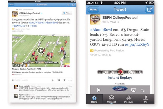 ESPN and Twitter widen their deal for inline video highlights