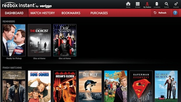 Redbox Instant on Google TV