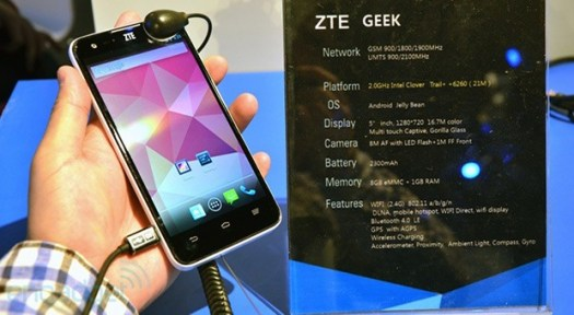 Intelpowered ZTE Geek arrives in China on July 25th