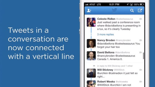 Twitter update streamlines conversations, displays them in chronological order video