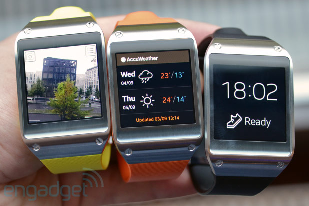 Samsung Galaxy Gear smartwatch handson video