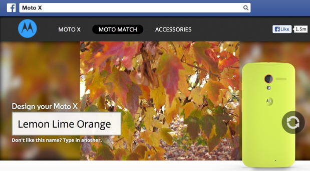 Moto X design campaign taps your Facebook photos for colorful inspiration