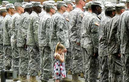 Paige Bennethum and Dad Soldier