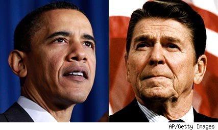 President Obama and President Reagan