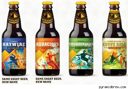 Pyramid Breweries new packaging