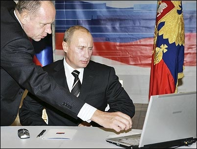 Glorious benevolent leader Putin is seen here trolling the forums to get leet hax skillz for the cyber invasion.