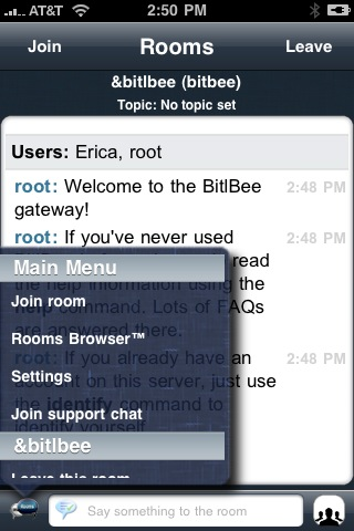 Bitlbee and Rooms Accessing AIM Chat Rooms from your iPhone