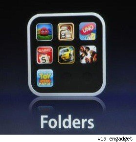 how to create folders on iphone 4