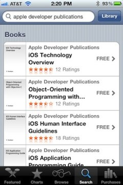 Apple post 6 iOS developer docs in iBooks eBookstore