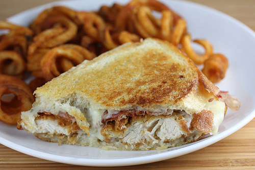 chicken strip grilled cheese