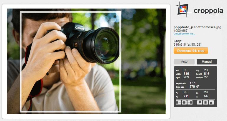 Croppola - crop your photos