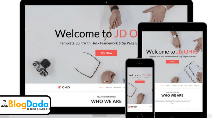 JD OHIO Joomla 3.7 Template Review – Design Responsive Joomla Website