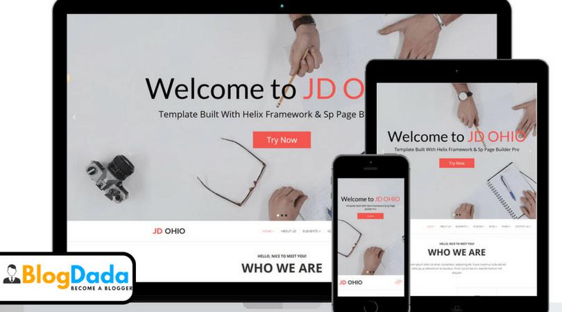 JD OHIO Joomla 3.7 Template Review – Design Responsive Joomla Website