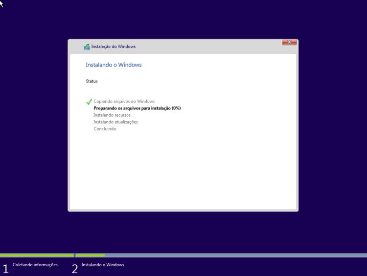 Windows 10 - Cópia dos arquivos