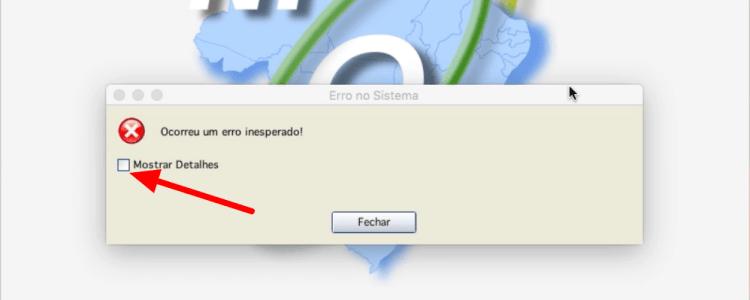 Emissor NFe MAC - Erro inesperado