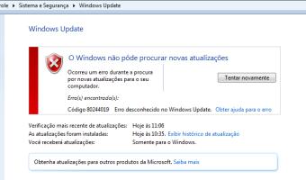Windows Update Erro 80244019