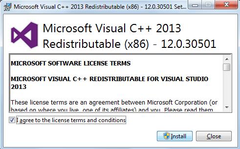 Pacote de redistribuição do Microsoft C++