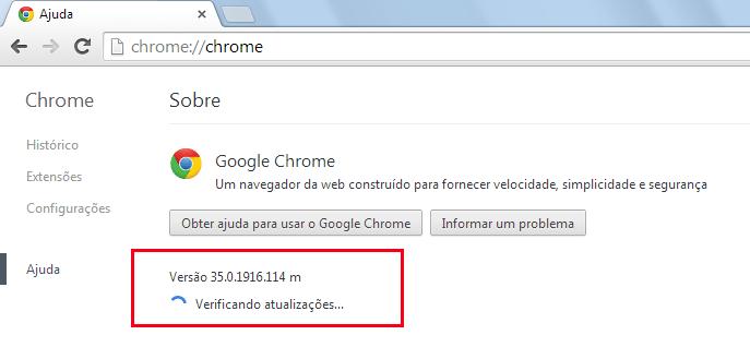 Chrome - Atualizações