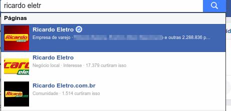 Facebook - Páginas reais