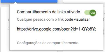 Google Drive - Link Compartilhado