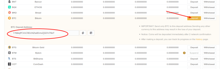 Carteira de Bitcoins na Binance