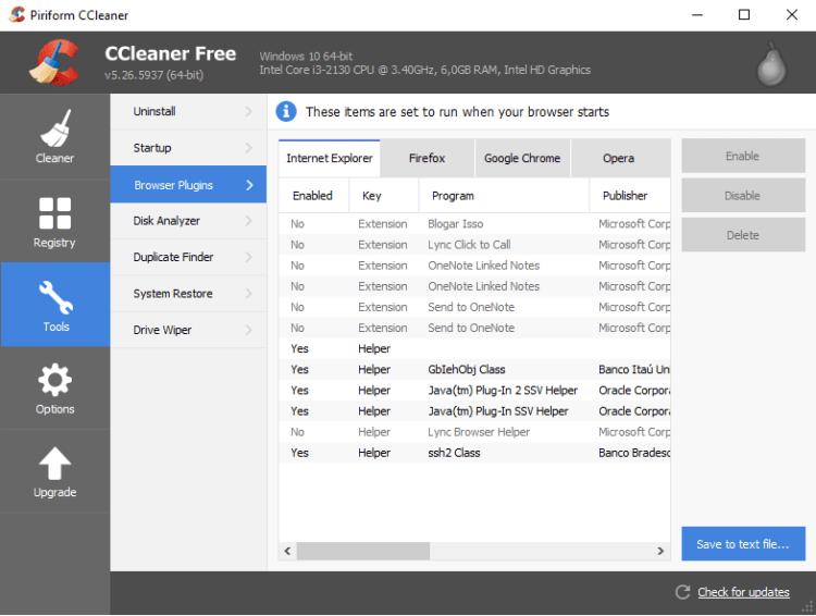 Usando o ccleaner para fazer uma limpeza em seu pc ou mac blog da ferramentas plugins dos browsers stopboris Gallery