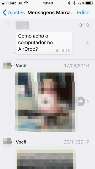 Mensagens arquivadas WhatsApp do iPhone